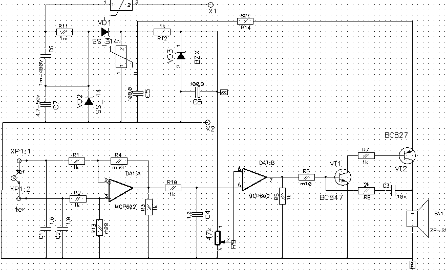 Signalizator metana (temperatury)